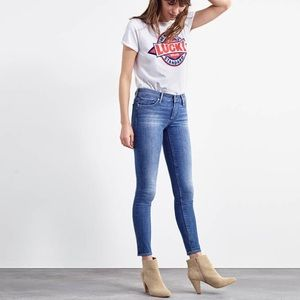 Lucky Stella Mid Rise Skinny Ankle Jean 8 29